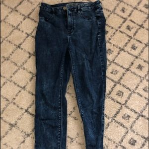 American Eagle Sky High Dark Acid Wash Jeans